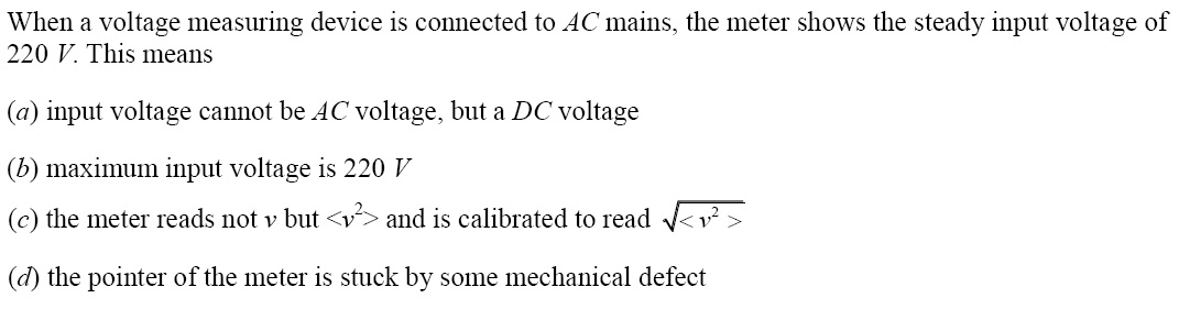 NCERT Exemplar Solutions for Class 12 Physics - Chapter 7: Alternating Current (Question 7.3)