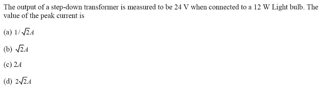 NCERT Exemplar Solutions for Class 12 Physics - Chapter 7: Alternating Current (Question 7.7)