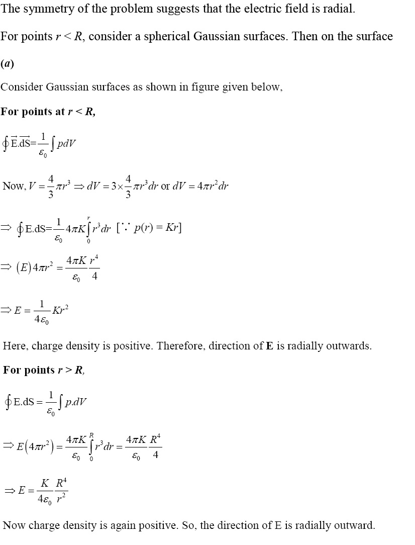 NCERT Exemplar Solutions 12th Physics Chapter 1 Solution 1.27 (a)