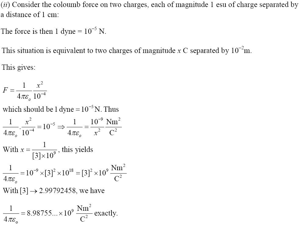 NCERT Exemplar Solutions 12th Physics Chapter 1 Solution 1.29 (ii)