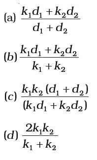 NCERT Exemplar Solutions 12th Physics Chapter 2 MCQ I Q 2.3 Figure 2.6 Options