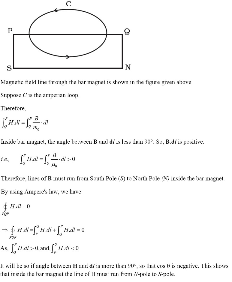 NCERT Exemplar Solutions for CBSE Class 12 Physics ‒ Chapter 5: Magnetism and Matter (Solution 20)