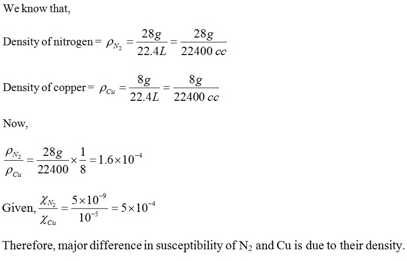 NCERT Exemplar Solutions for CBSE Class 12 Physics ‒ Chapter 5: Magnetism and Matter (Solution 5.13)