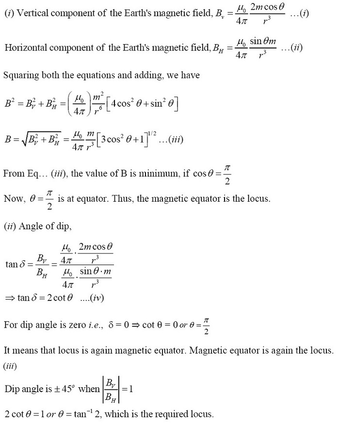 NCERT Exemplar Solutions for CBSE Class 12 Physics ‒ Chapter 5: Magnetism and Matter (Solution 5.23)