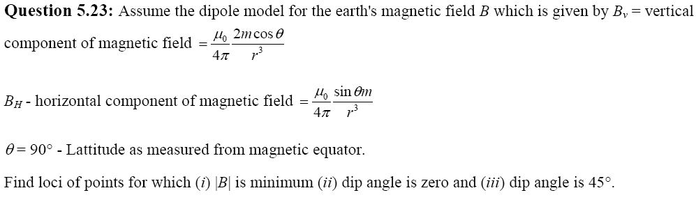NCERT Exemplar Solutions for CBSE Class 12 Physics ‒ Chapter 5: Magnetism and Matter (Question 5.23)