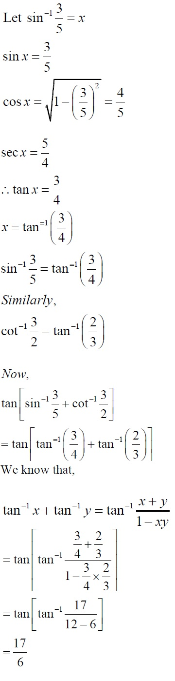 NCERT Solutions for CBSE Class 12 Mathematics ‒ Chapter 2: Inverse Trigonometric Functions (Exercise 2.2, Solution: 18)