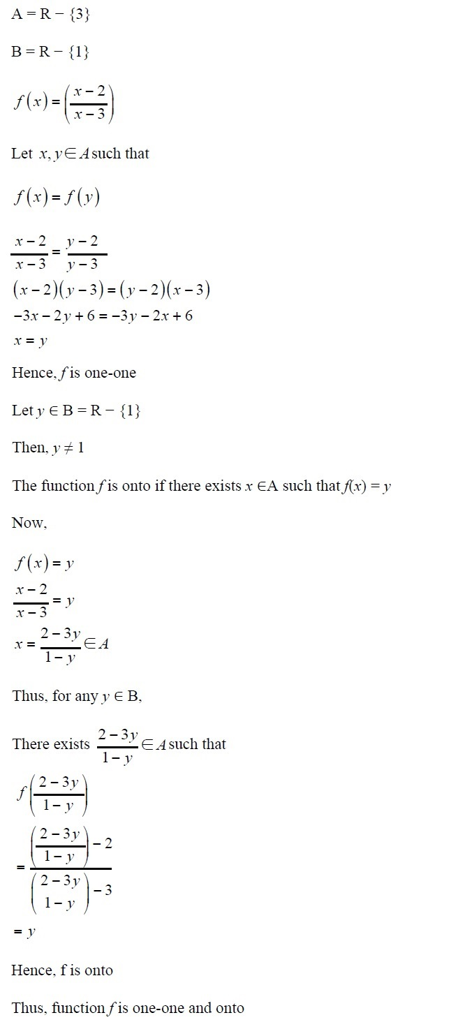NCERT Solutions for CBSE Class 12th Maths, Chapter 1: Relations and Functions, Exercise 1.2, Solution No. 10
