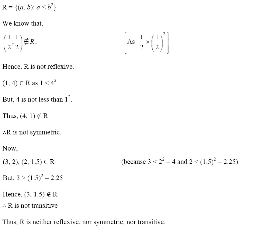 NCERT Solutions for CBSE Class 12 Mathematics ‒ Chapter 1: Relations and Functions, Exercise 1.1: Solution of Q2