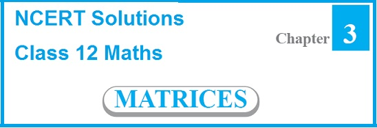 NCERT Solutions for CBSE Class 12 Mathematics ‒ Chapter 3: Matrices (Question No. 1 to 9)