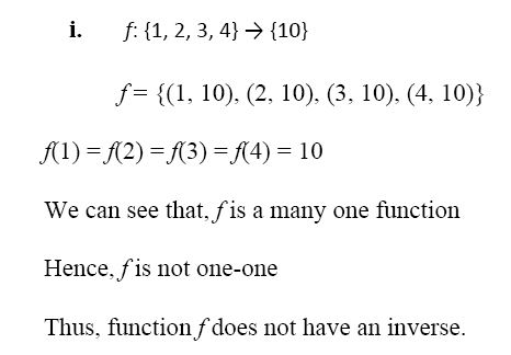 NCERT Solutions for CBSE Class 12 Mathematics ‒ Chapter 1: Relations and Functions, Exercise 1.3, Question number 5 (i)