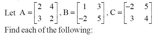 NCERT Solutions for Class 12 Mathematics ‒ Chapter 3: Matrices (Exercise 3.2; question 1)