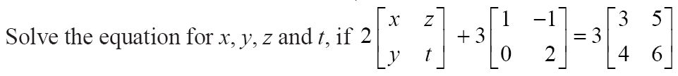 NCERT Solutions for Class 12 Mathematics ‒ Chapter 3: Matrices (Exercise 3.2; question 10)