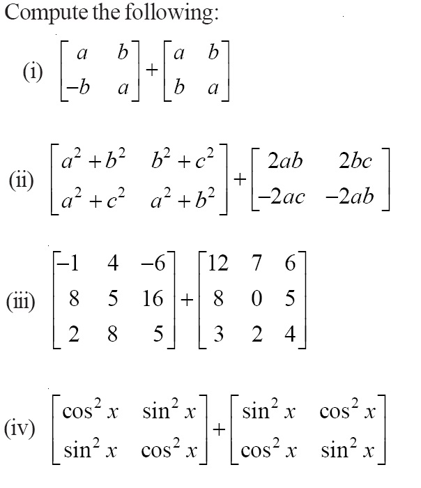 NCERT Solutions for Class 12 Mathematics ‒ Chapter 3: Matrices (Exercise 3.2; question 2)