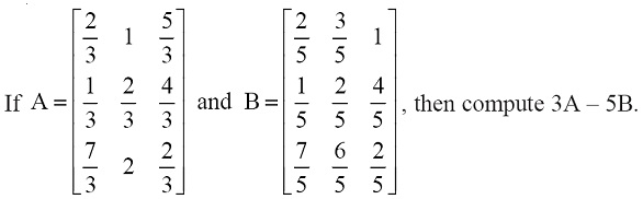NCERT Solutions for Class 12 Mathematics ‒ Chapter 3: Matrices (Exercise 3.2; question 5)