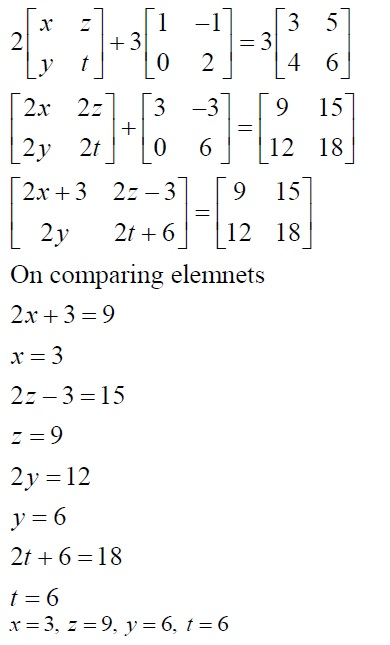 NCERT Solutions for Class 12 Mathematics ‒ Chapter 3: Matrices (Exercise 3.2; solution 10)