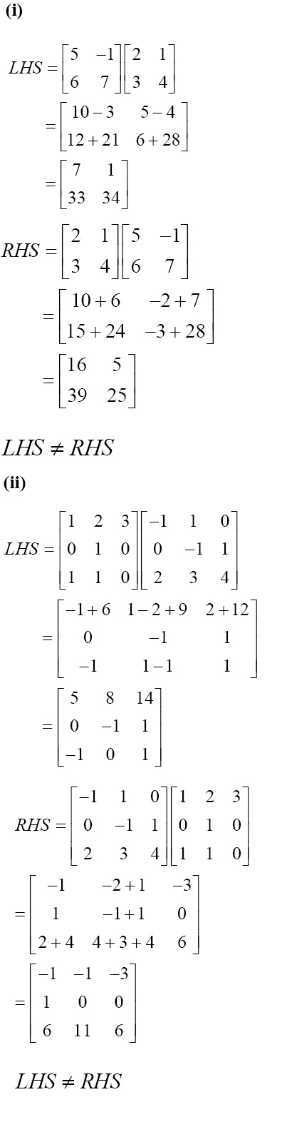 NCERT Solutions for CBSE 12th Maths, Chapter 3, Exercise 3.2