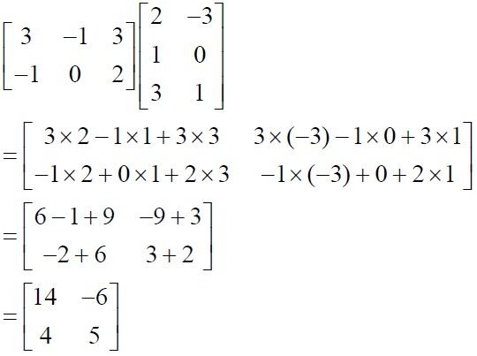 NCERT Solutions for Class 12 Mathematics ‒ Chapter 3: Matrices (Exercise 3.2; solution 3 - vi)