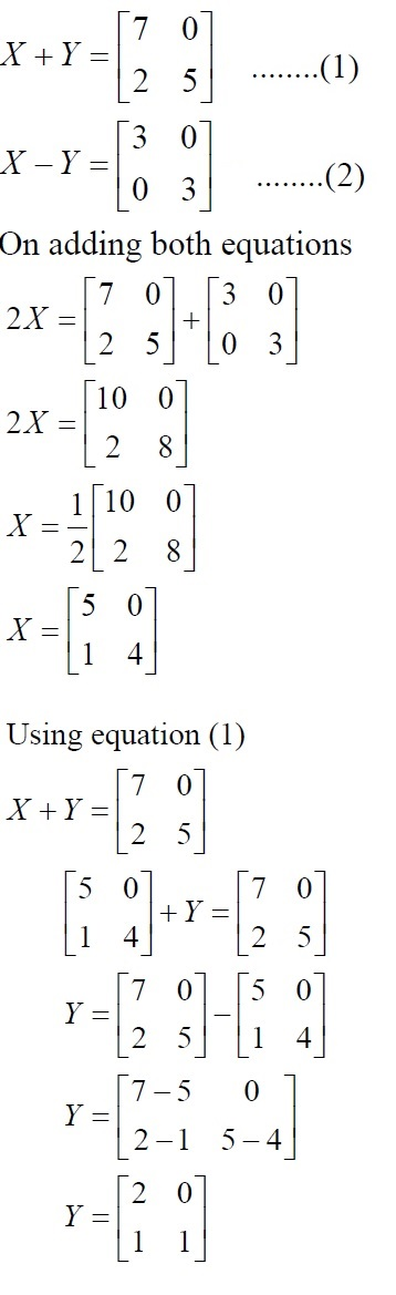 NCERT Solutions for Class 12 Mathematics ‒ Chapter 3: Matrices (Exercise 3.2; solution 7 - i)