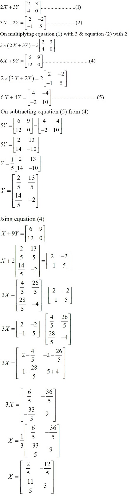 NCERT Solutions for Class 12 Mathematics ‒ Chapter 3: Matrices (Exercise 3.2; solution 7 - ii)