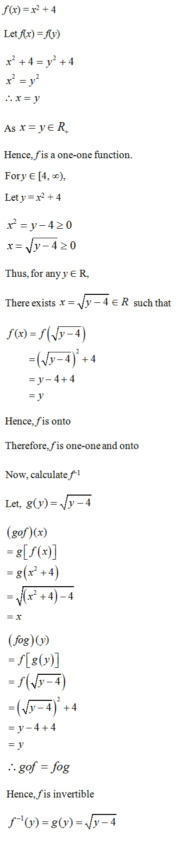 NCERT Solutions for CBSE Class 12th Maths, Chapter 1: Relations and Functions, Exercise 1.3, Solution 8