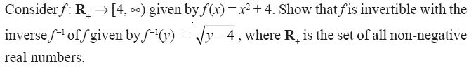 NCERT Solutions for CBSE Class 12th Maths, Chapter 1: Relations and Functions, Exercise 1.3, Question 8