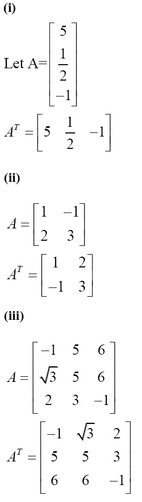 NCERT Solutions for CBSE Class 12 Mathematics ‒ Chapter 3: Matrices (Exercise 3.3, Solution 1)