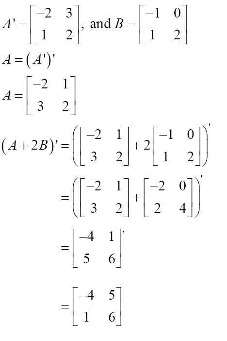 MATRICES-EXERCISE-SOLUTIONS - MATRICES EXERCISE-SOLUTIONS