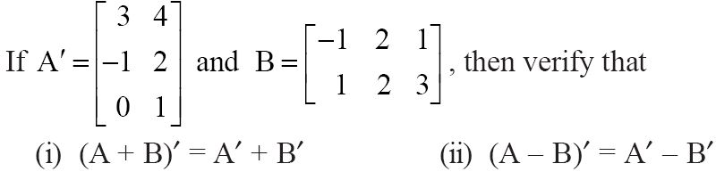 NCERT Solutions for CBSE Class 12 Mathematics ‒ Chapter 3: Matrices (Exercise 3.3, Question 3)
