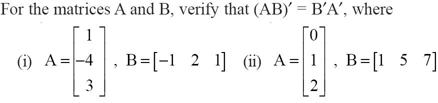 NCERT Solutions for CBSE Class 12 Mathematics ‒ Chapter 3: Matrices (Exercise 3.3, Question 5)