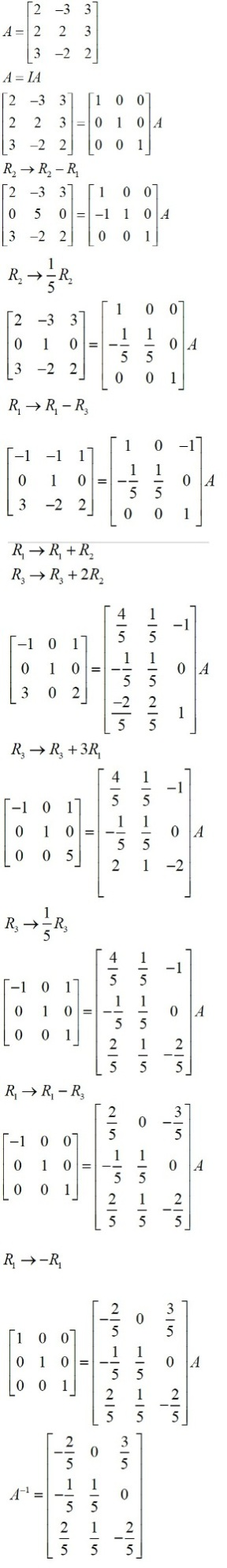 NCERT Solutions for Class 12 Maths: Chapter 3: Matrices (Exercise 3.4, Solution 15)