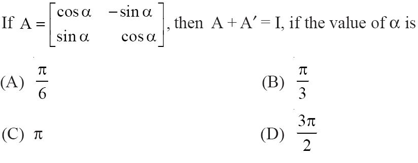 NCERT Solutions for CBSE Class 12 Mathematics ‒ Chapter 3: Matrices (Exercise 3.3, Question 12)