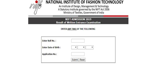 Nift Entrance Exam Result 2019 Declared For B Ftech M Ftech And M F M Programmes Check Details Below