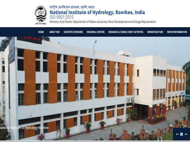 National Institute of Hydrology Roorkee (NIH Roorkee) Recruitment 2019
