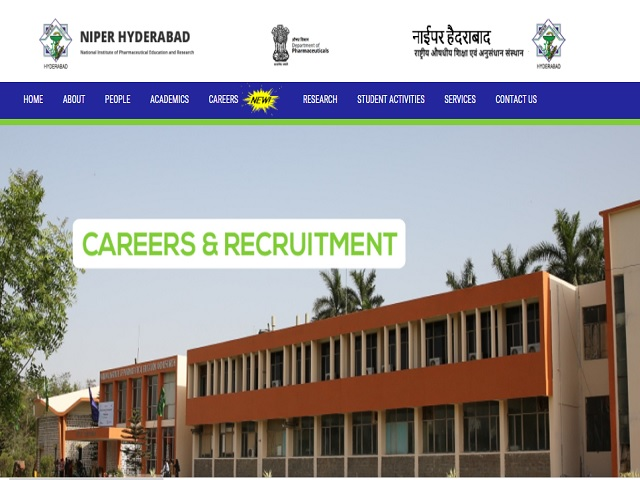 NIPER Hyderabad Recruitment 2020
