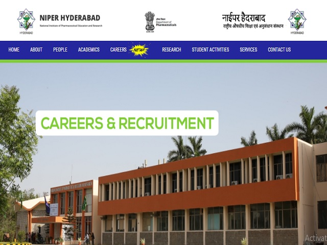 NIPER Teaching & Non-Teaching Posts Job 2018