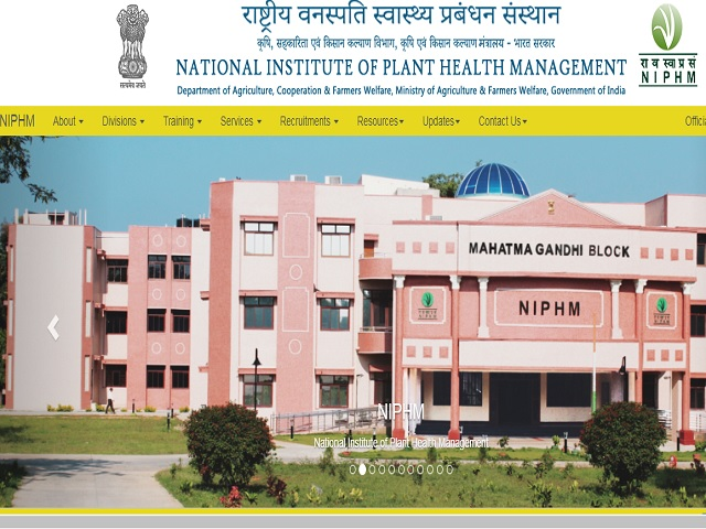 National Institute of Plant Health Management Assistant Director and Other Posts 2019