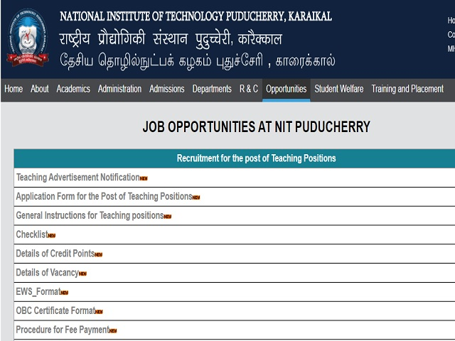 NIT Assistant Professor Post Job 2018
