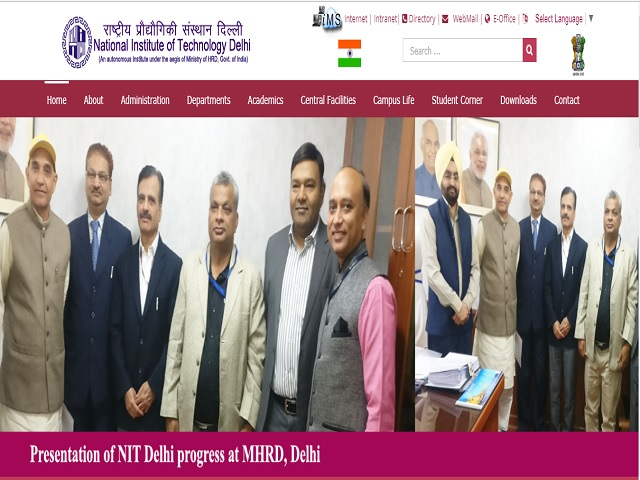NIT Delhi Superintendent, Technical Assistant and other posts 2019