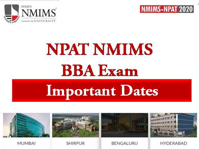 NPAT BBA Important Dates