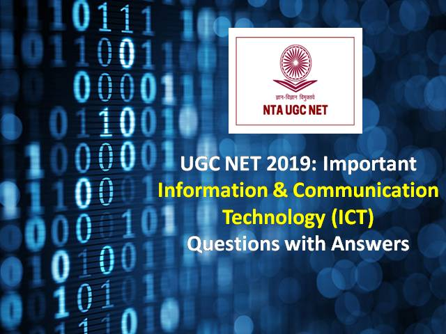 UGC NET December 2019: Important Information Technology (ICT) Questions with Answers