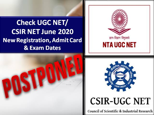 NTA Extended UGC NET/CSIR NET/ICAR NET 2020 Registration Dates due to COVID-19 Lockdown|Check Details Here!
