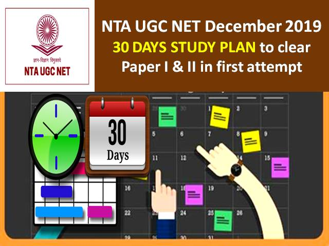 NTA UGC NET 30 Days Study Plan to clear Paper I & II in first attempt