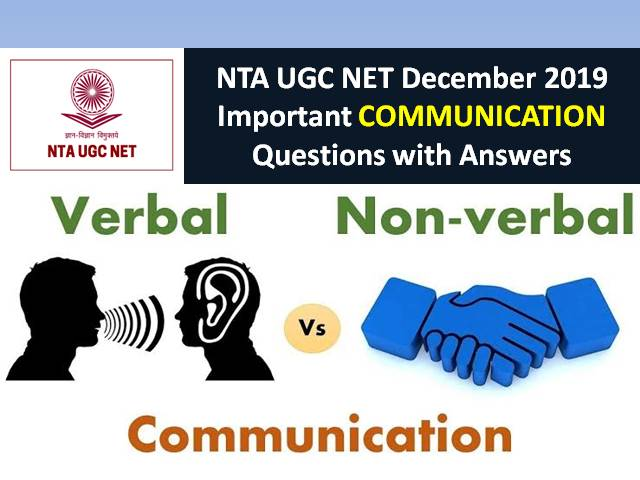 UGC NET December 2019: Important Communication Questions with Answers