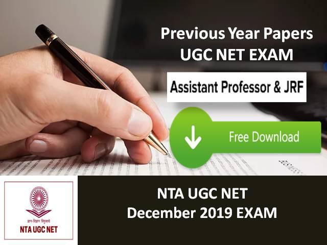 NTA UGC NET 2019 December: Free Download of Previous Year