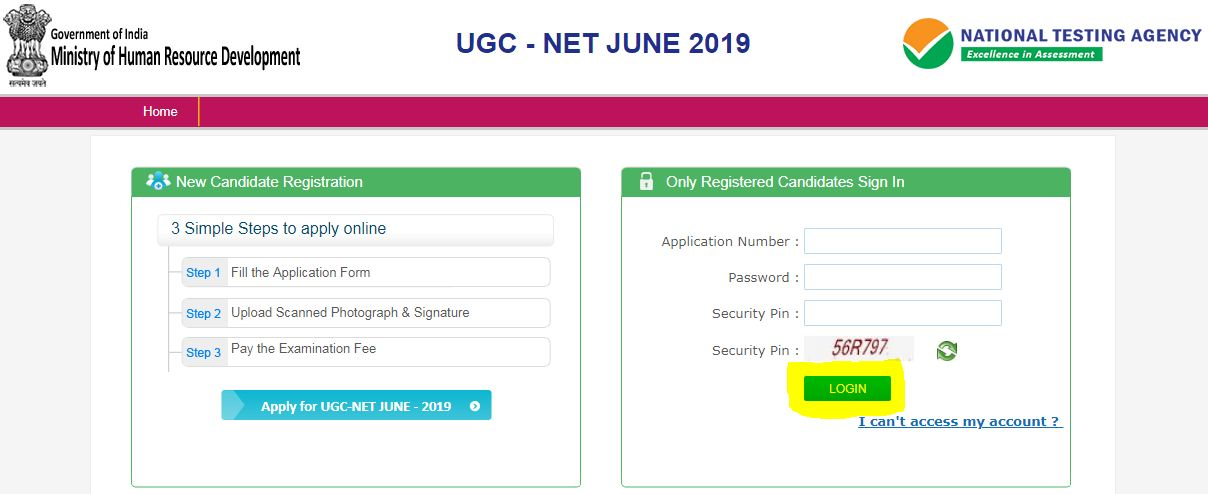 UGC NET Application Correction