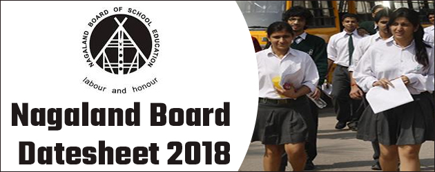NBSE HSSLC Class 12th Board Exam Datesheet 2018 Declared
