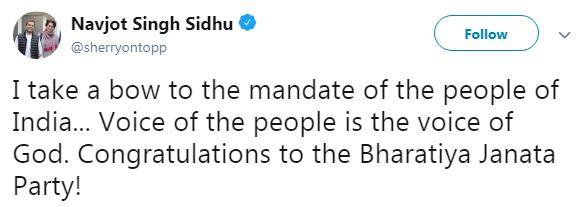 Navjot Singh Sidhu Tweet