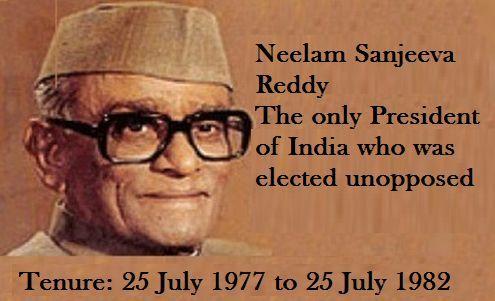 President Neelam Sanjeva Reddy