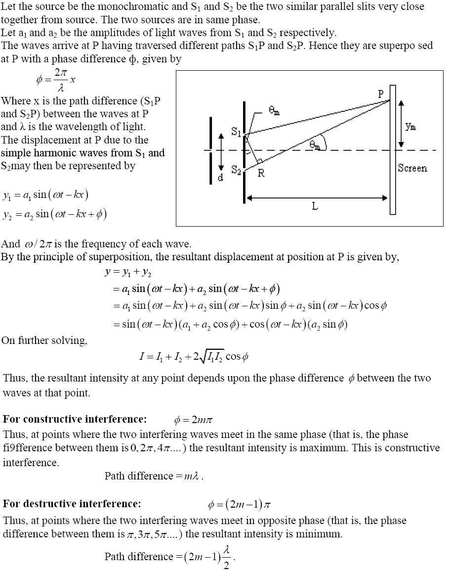 CBSE Class 12th Physics Notes Wave Optics Part I   CBSE Board