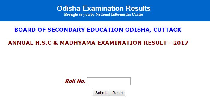 BSE Odisha to announce Matric results 2017 today at www.orissaresults.nic.in